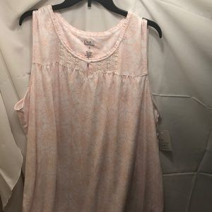 NWT sz 3x orange print LONG nightgown